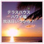 テラスハウス・ハワイの地上波の放送日いつから?放送開始は来年?