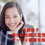 水原希子ヌーディー画像は資生堂の強要!手ぶらで開花宣言ポスター